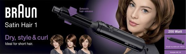 BRAUN ILMAKIHARRIN AS110 SATIN HAIR-1  200W